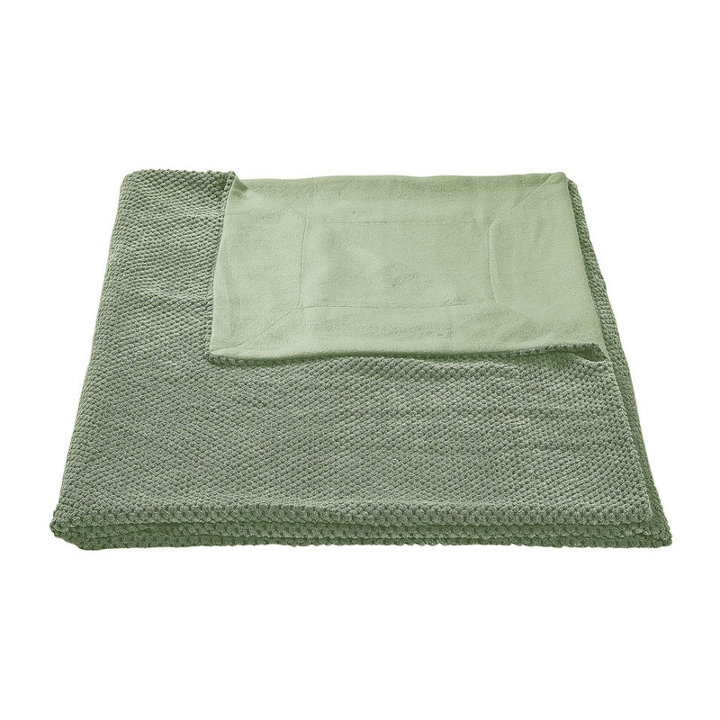 Plaid blokje - soft groen - 130x160 cm