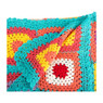 Plaid multikleuren gehaakt – 125x150 cm