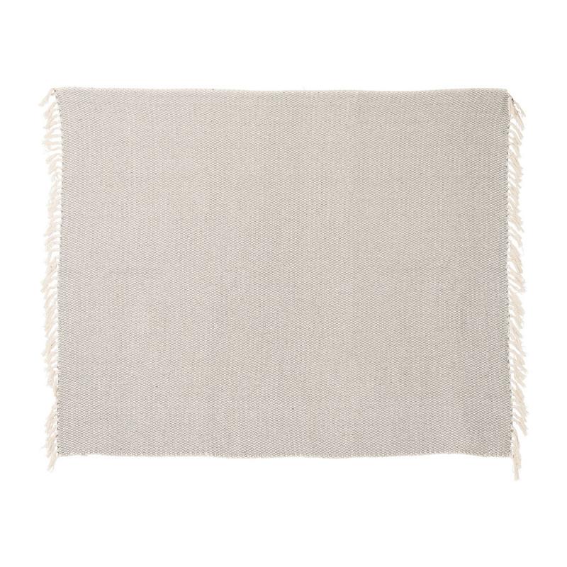Plaid India - 130x160 cm - ecru/grijs