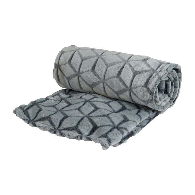 Plaid soft - grijs - 130x170 cm