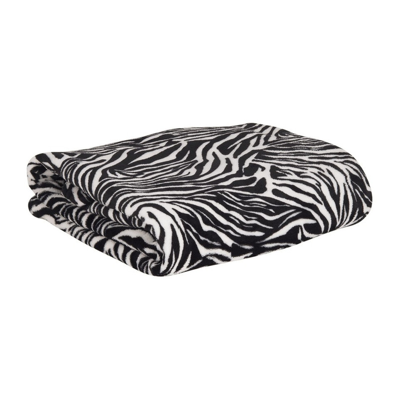 Fleecedeken met mouwen - zebra