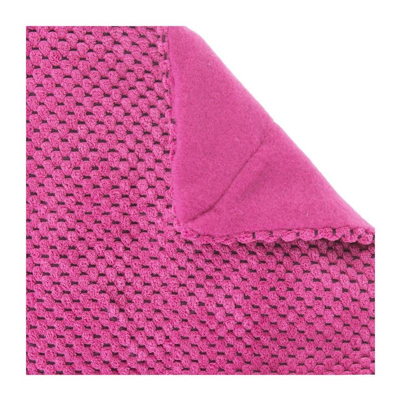 Plaid blokje - roze - 130x160 cm