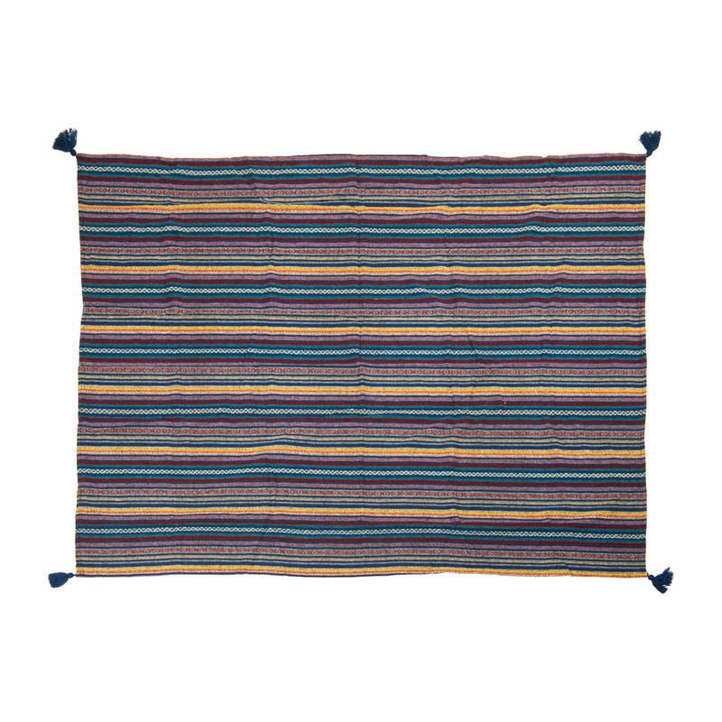 Plaid Mexican - blauw - 130x160 cm