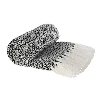Plaid - zwart/wit - 130x160 cm