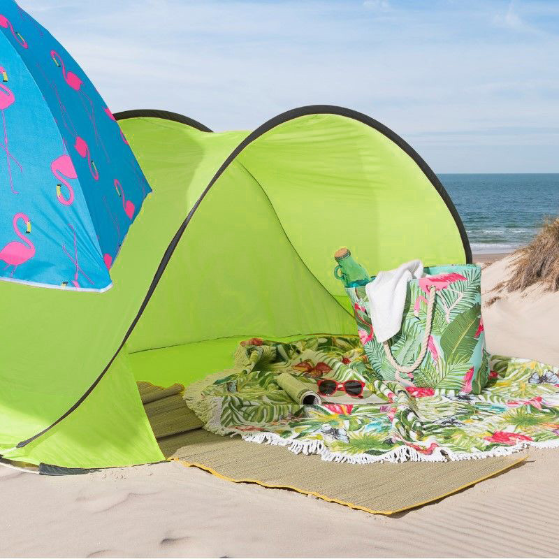 Pop-up strandtentje - groen - 220x113x87 cm