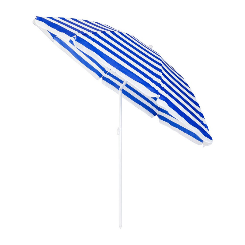 Tuinparasol - 240 cm - blauw/wit