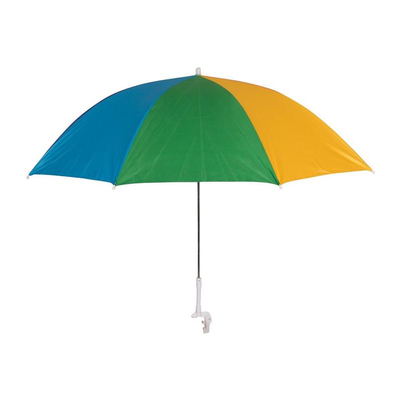 Parasol + klem - 95x85 cm - rainbow