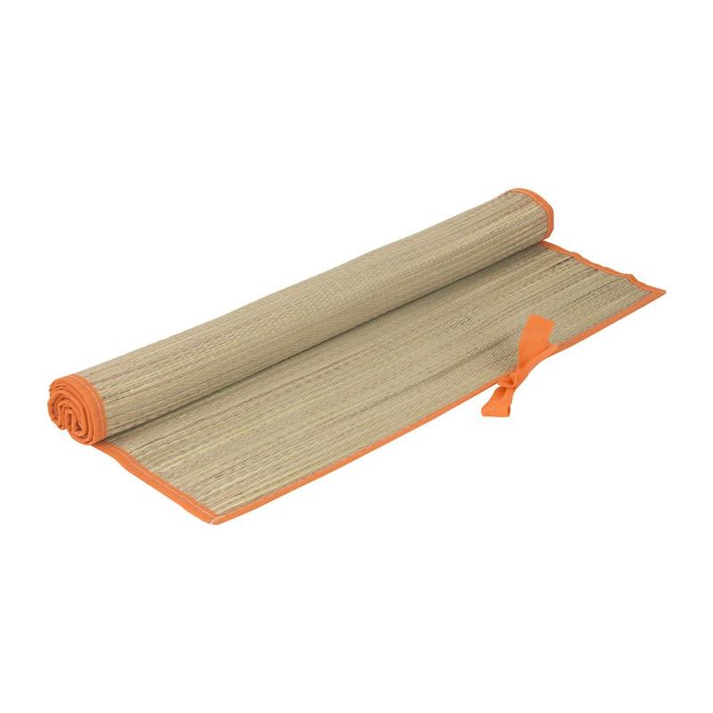 Strandmatje - 180x60 cm - oranje rand