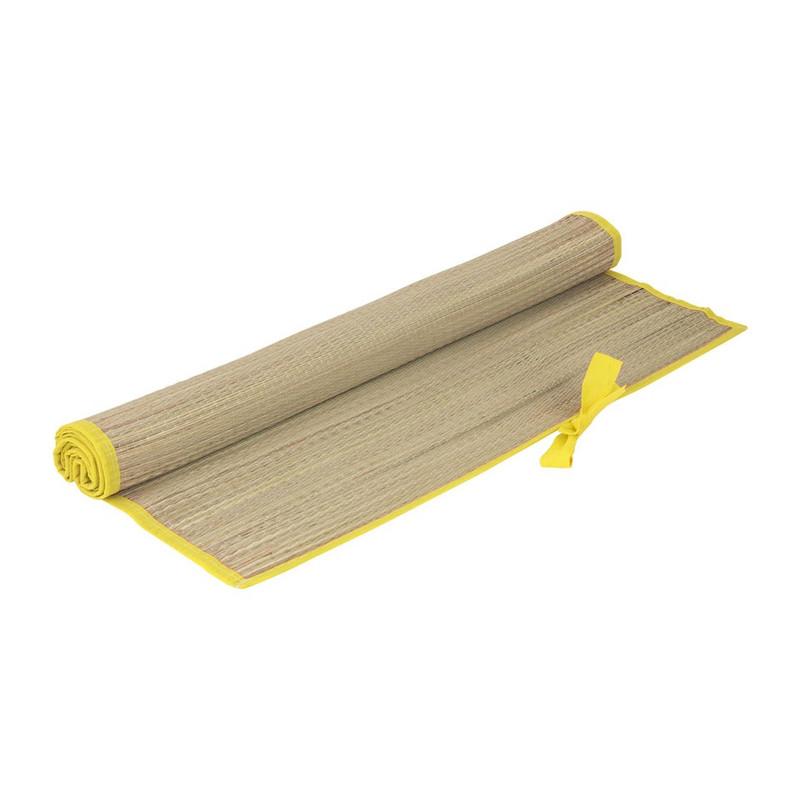 Strandmatje - 180x60 cm - gele rand