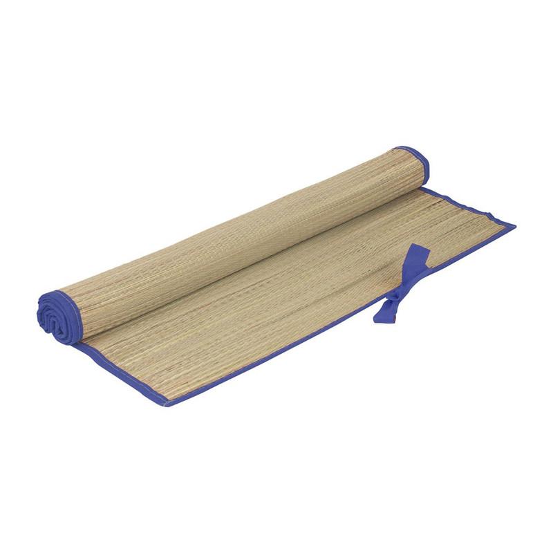 Strandmatje - 180x60 cm - blauwe rand
