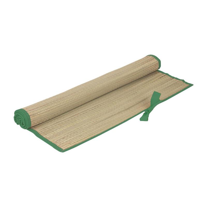 Strandmatje - 180x60 cm - groene rand