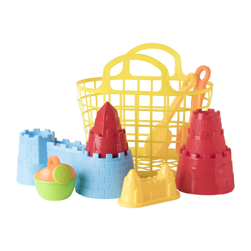 Strand speelgoed in tas - set van 9