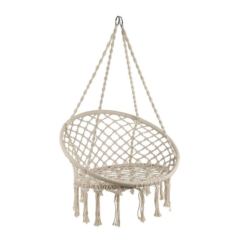 Hangstoel Ophangen Aan Plafond.Hangstoel Knoet Beige Xenos