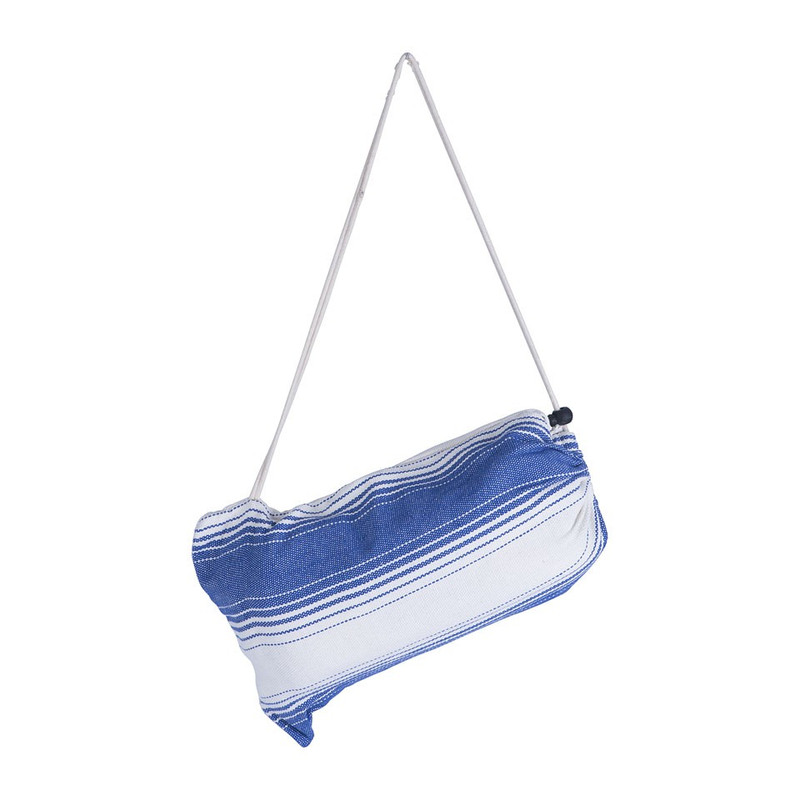 Hangmat stripes - blauw wit