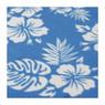 Strand/picknickplaid flowers - blauw