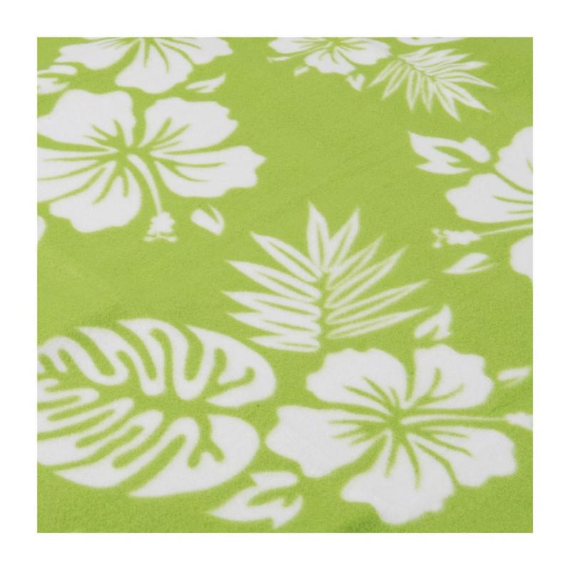 Strand/picknickplaid flowers - groen
