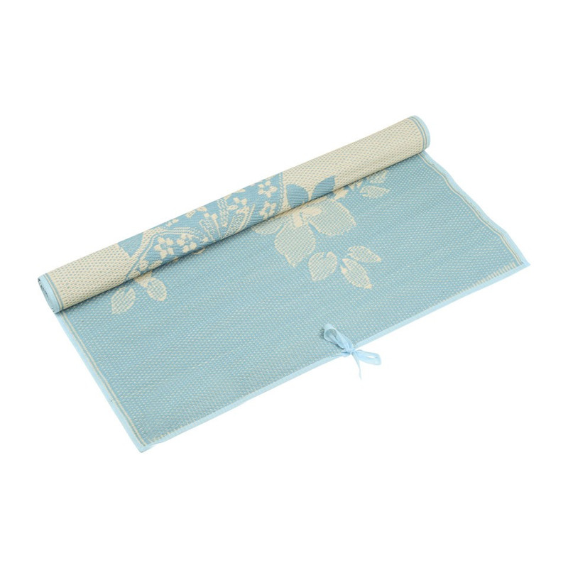 Camping/picknickmat bloem - 120x180 cm - blauw
