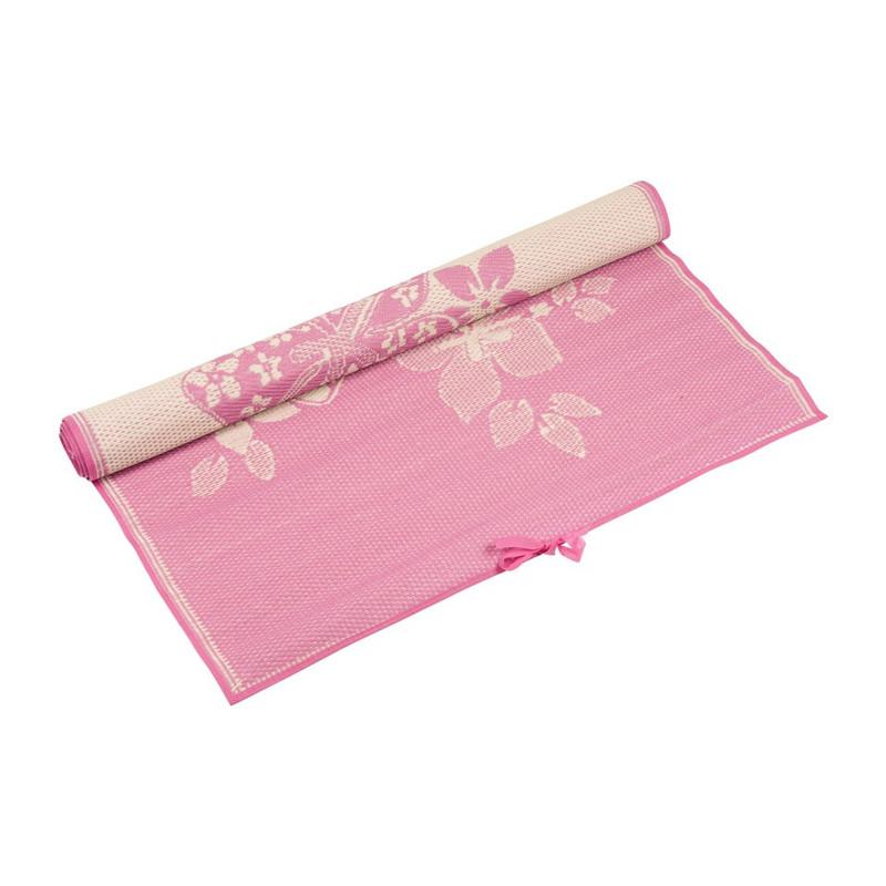 Camping/picknickmat bloem - 120x180 cm - roze