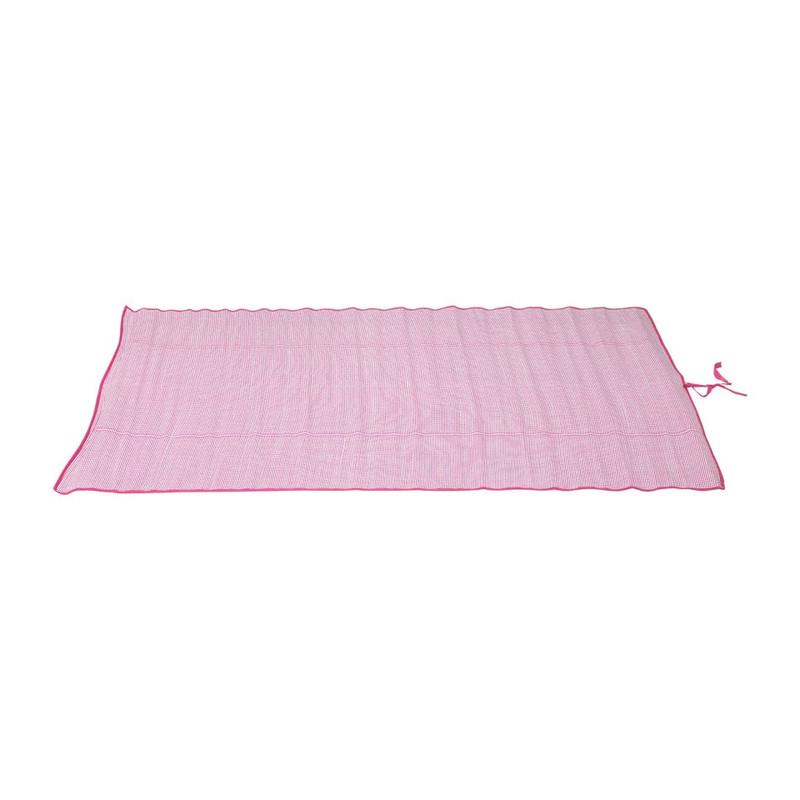 Strabd/picknickmat - 120x180 cm - roze