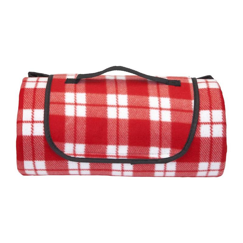 Strand/picknick plaid geruit - rood