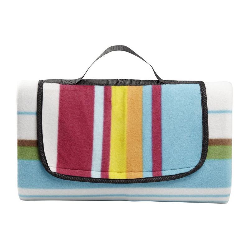 Strand/picknick plaid gestreept - multikleur