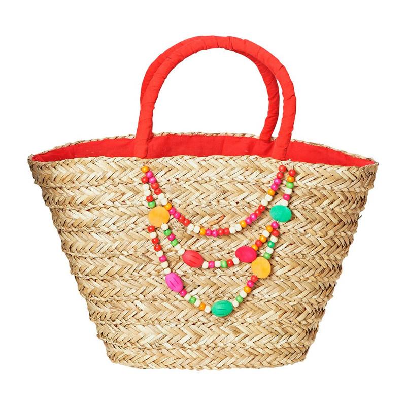 Strand/picknicktas kralen - rood