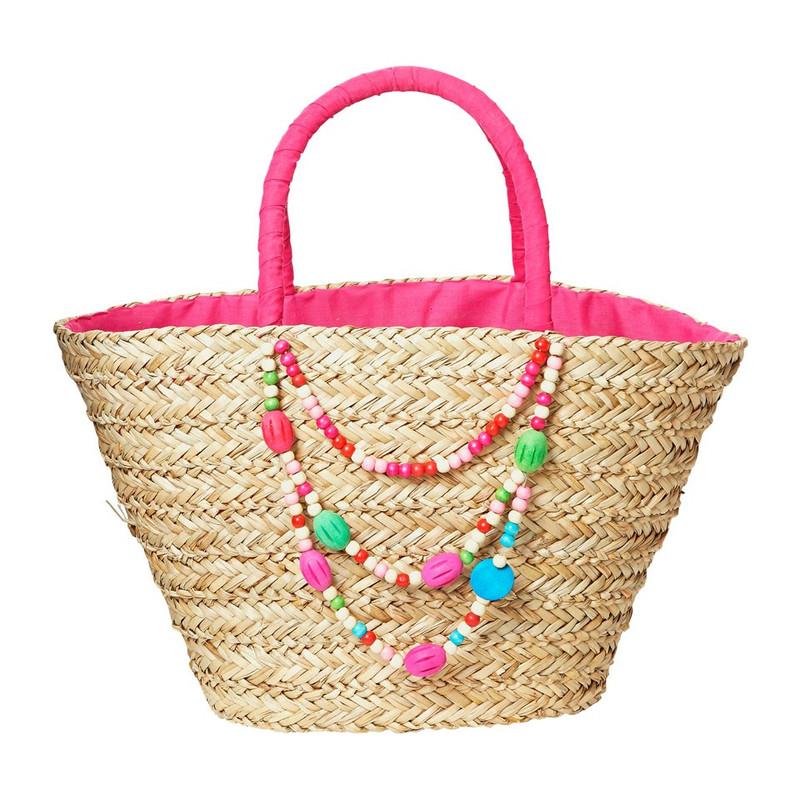 Strand/picknicktas kralen - roze