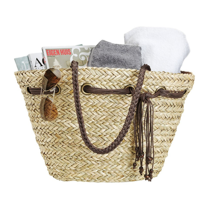 Strand/picknicktas touw/kralen