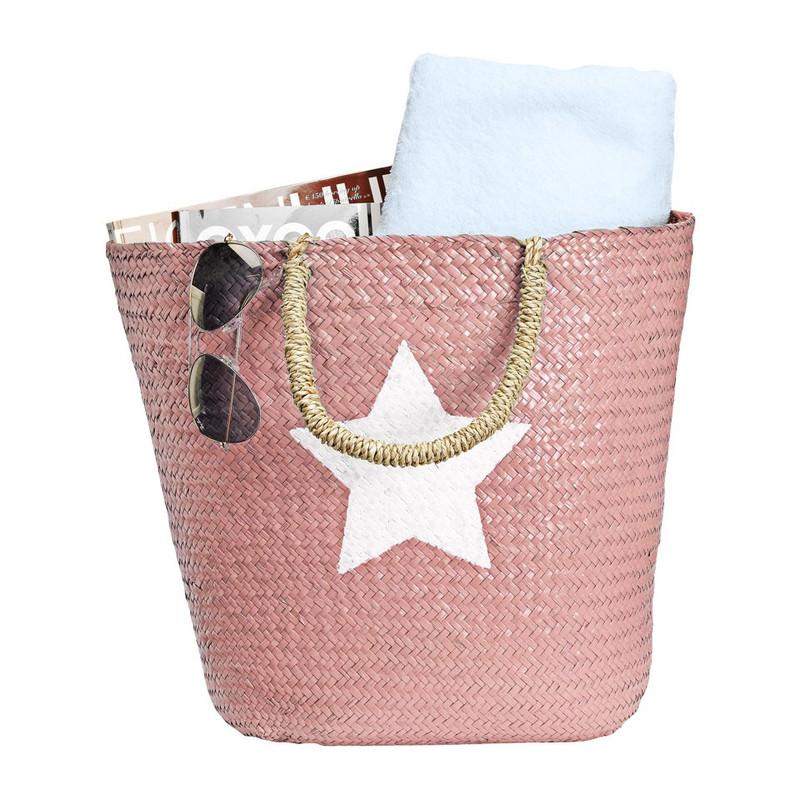 Strand/picknicktas ster - roze