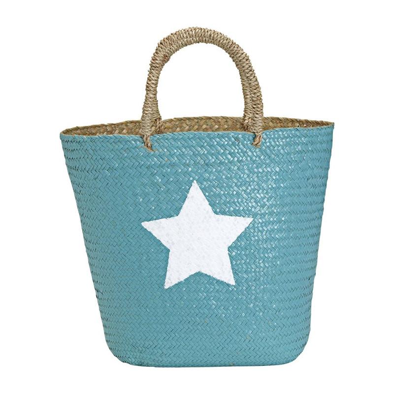 Strand/picknicktas ster - blauw