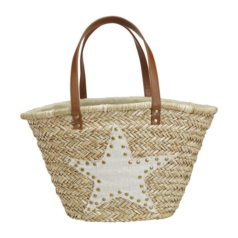 Strand/picknicktas ster - beige