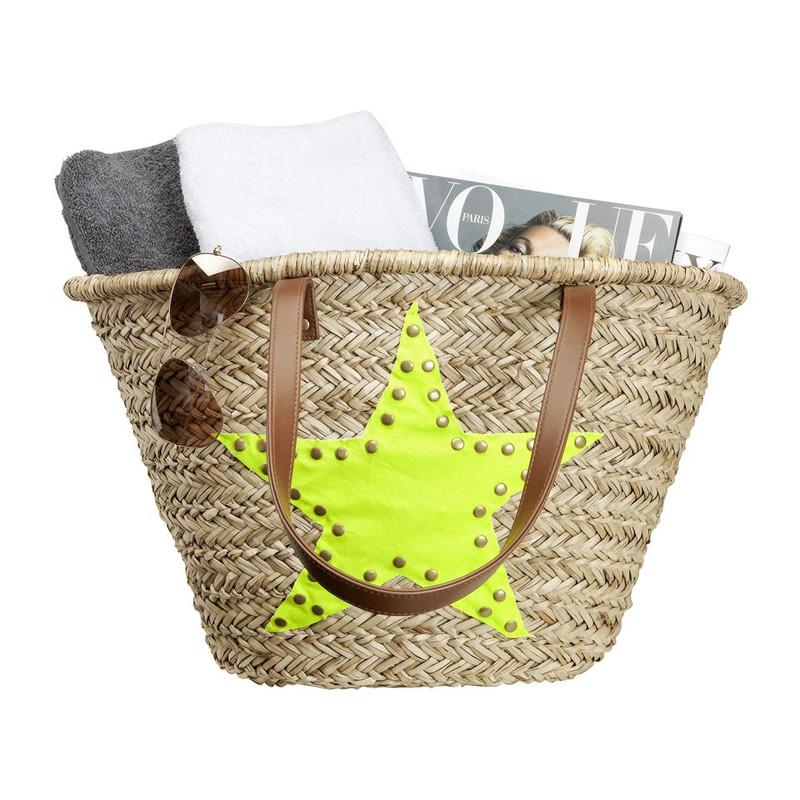 Strand/picknicktas ster - geel