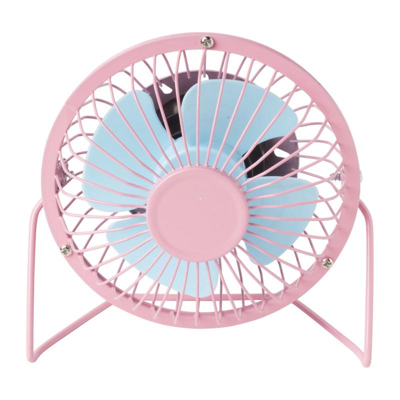 Mini tafelventilator - roze/blauw - ⌀15 cm