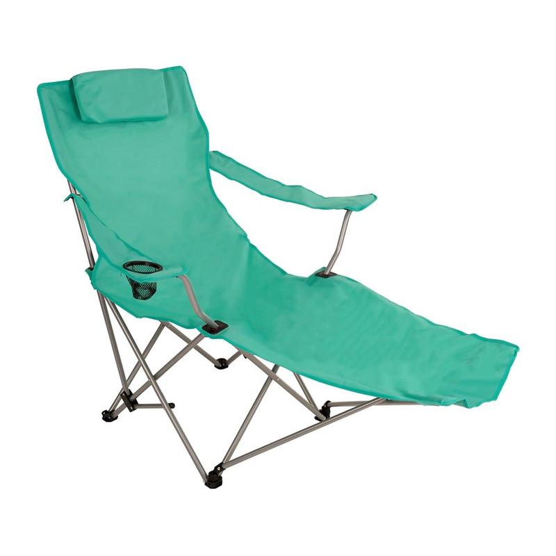 Canvas stoel met voetensteun - groen