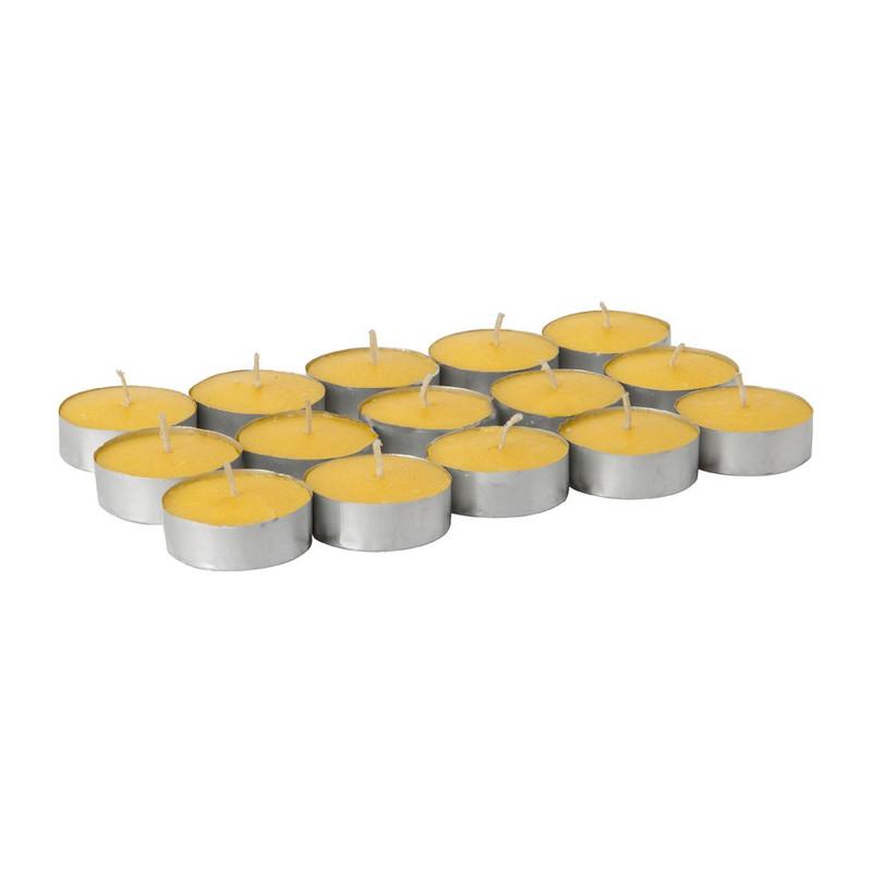 Citronella theelichten - 15 stuks