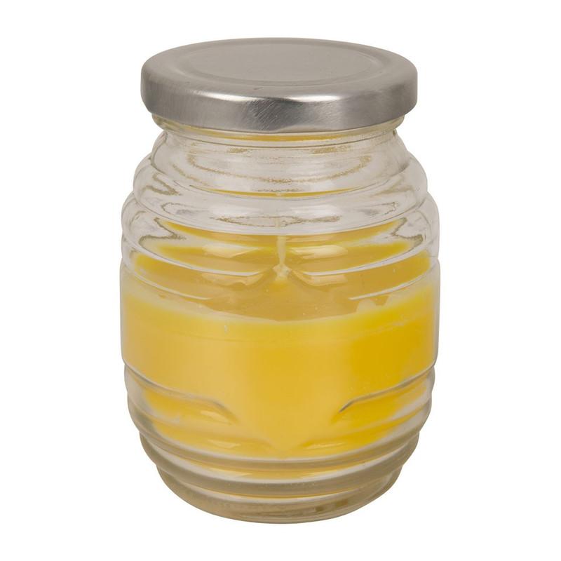 Citronella kaars in glazen pot met deksel
