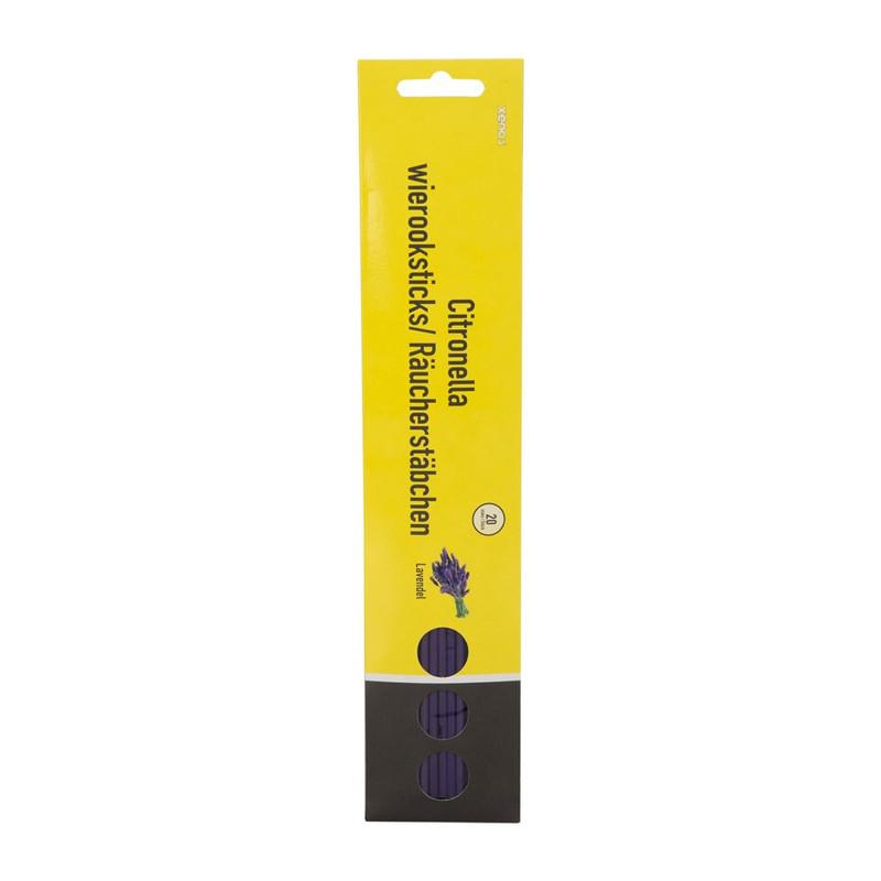 Citronella wierook sticks lavendel klein