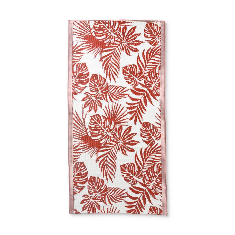 Strandmatje leaves - rood - 90x180 cm