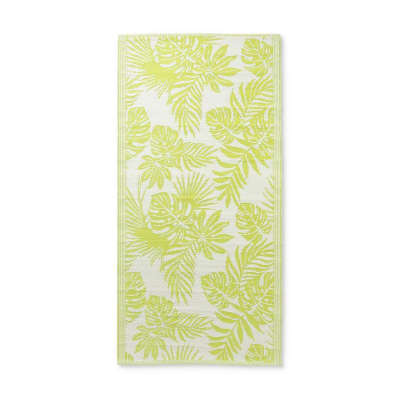 Strandmatje leaves - groen - 90x180 cm