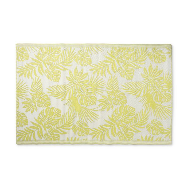 Buitenkleed leaves - groen/wit - 120x180 cm