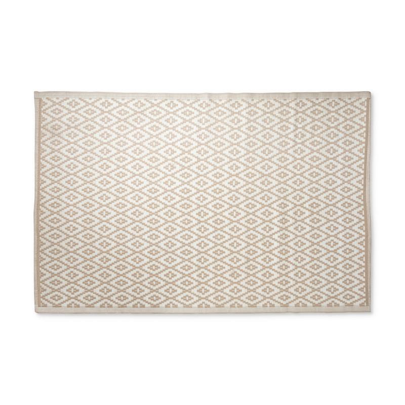 Buitenkleed azteken - beige - 160x230 cm