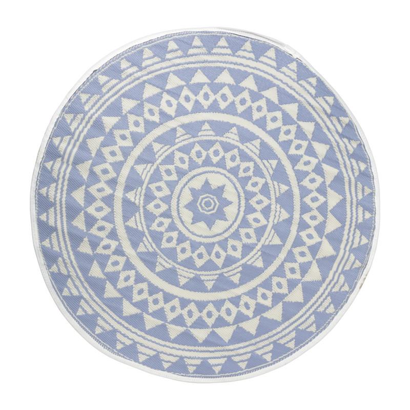 Buitenkleed mandala - lila - 150 cm