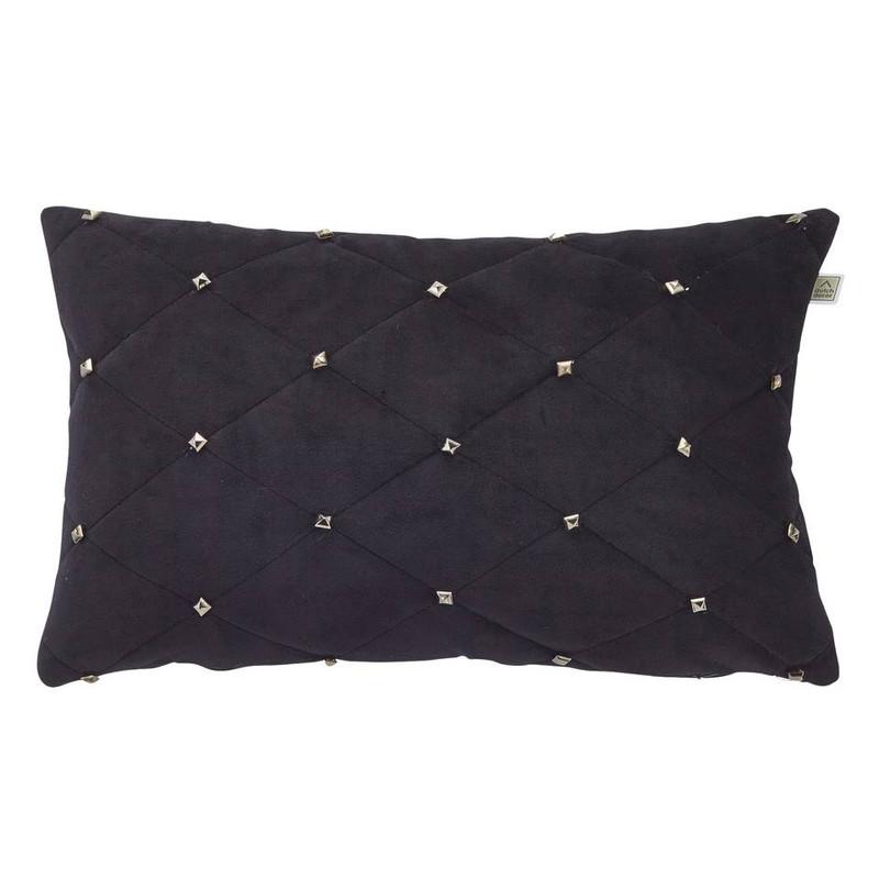 Dutch Decor kussen Esula - zwart - 30x50 cm