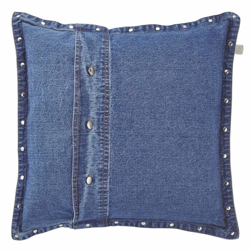 Dutch Decor kussen Adoss - blauw - 45x45 cm