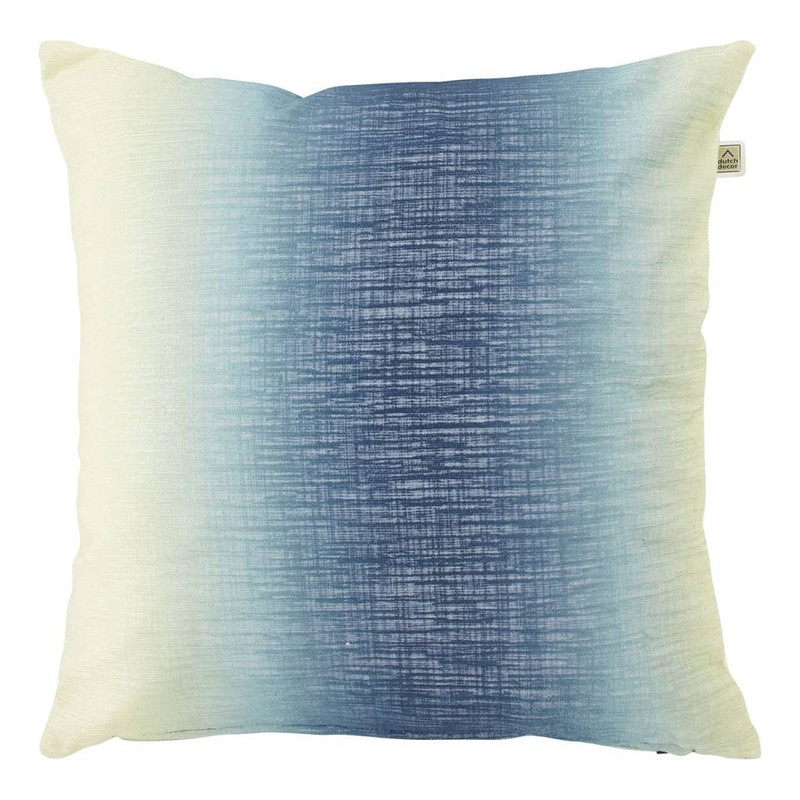 Dutch Decor kussen Oegena - blauw - 45x45 cm