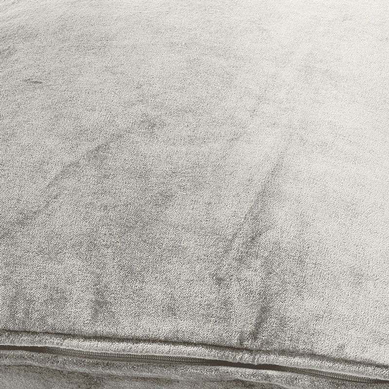 Dutch Decor kussen fluweel - licht grijs - 45x45 cm