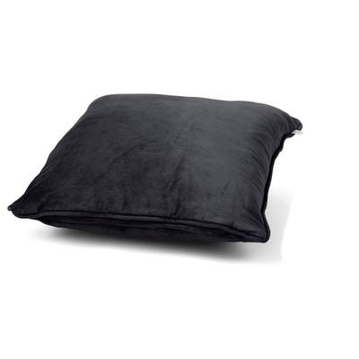 Dutch Decor kussen fluweel - zwart - 45x45 cm
