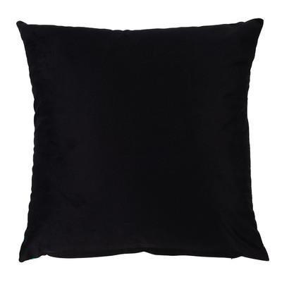 Kussen groen blad - zwart/groen - 45x45 cm