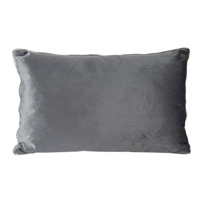 Kussen veer - 30x50 cm - grijs
