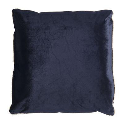 Kussen velours - 45x45 cm - zwart